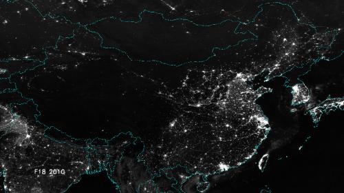 China's urban lights